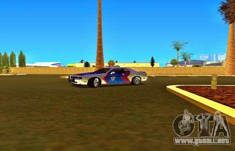Dodge Challenger Indonesian Police para la visión correcta GTA San Andreas