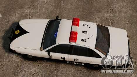 Policía japonesa para GTA 4 visión correcta