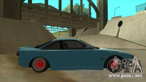 Nissan Silvia s14 Kouki Hellaflush para GTA San Andreas vista posterior izquierda