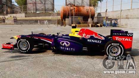 Coche, Red Bull RB9 v4 para GTA 4 left