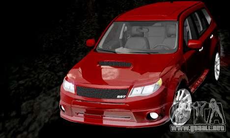 Subaru Forester RRT Sport 2008 v2.0 para la vista superior GTA San Andreas