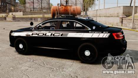 Ford Taurus Police Interceptor 2013 LCPD [ELS] para GTA 4 left