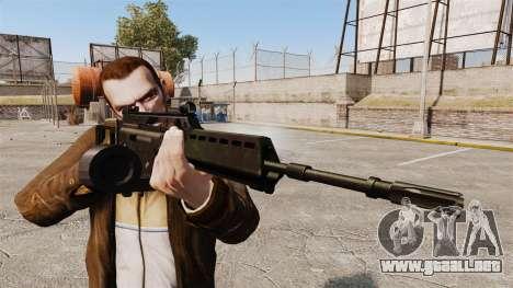 Rifle de asalto MG36 H & K v2 para GTA 4 tercera pantalla