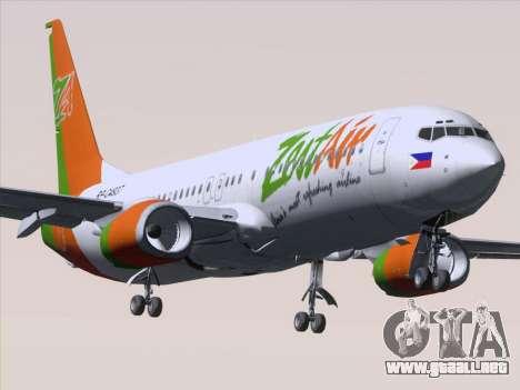 Boeing 737-800 Zest Air para vista inferior GTA San Andreas