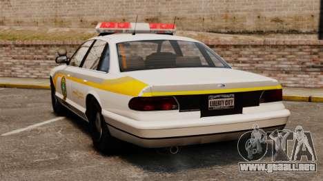 Policía Quebec para GTA 4 Vista posterior izquierda