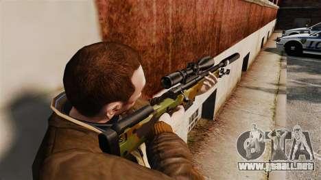 AW L115A1 rifle de francotirador con un v8 de si para GTA 4 segundos de pantalla