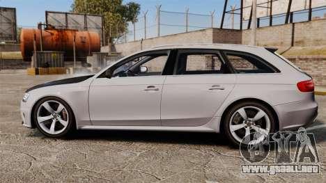 Audi RS4 Avant 2013 Sport v2.0 para GTA 4 left