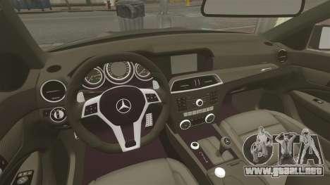 Mercedes-Benz C63 AMG BSAP (C204) 2012 para GTA 4 vista interior