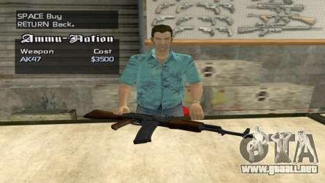 Full Weapon Pack para GTA San Andreas quinta pantalla