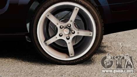 Ford Mustang Shelby GT500KR 2008 para GTA 4 vista hacia atrás