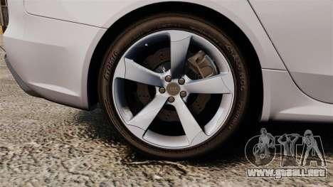 Audi RS4 Avant 2013 Sport v2.0 para GTA 4 vista hacia atrás