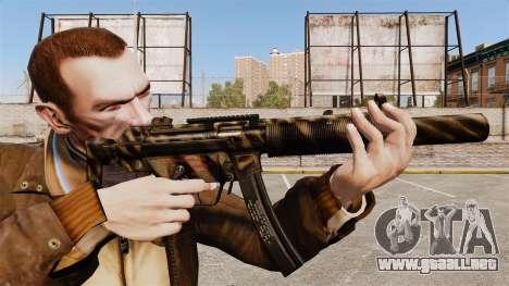 MP5SD subfusil ametrallador v7 para GTA 4