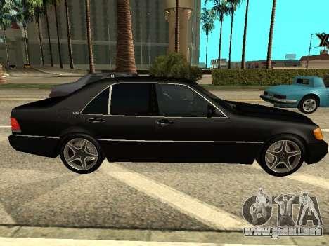 Mercedes-Benz w140 s600 para GTA San Andreas left