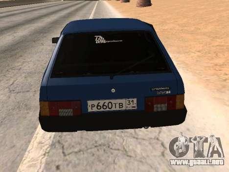 VAZ 2108 una docena azul para GTA San Andreas left