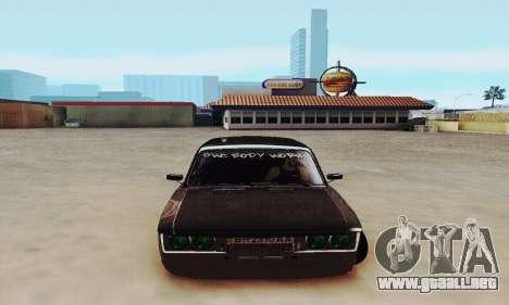 Zielonka 2106 VAZ para GTA San Andreas vista hacia atrás