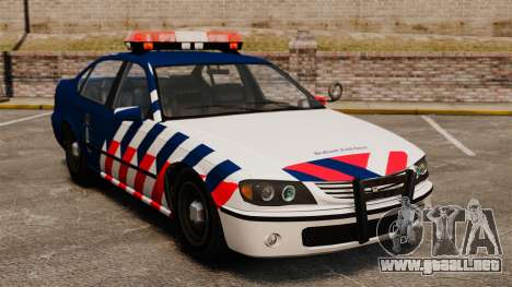 La policía militar holandesa para GTA 4