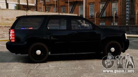 Chevrolet Tahoe 2008 Unmarked ELS para GTA 4 left