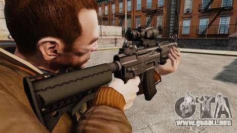 El fusil de asalto SIG 552 para GTA 4 segundos de pantalla