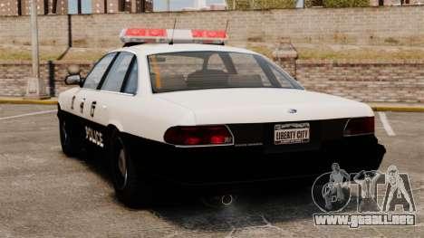 Policía japonesa para GTA 4 Vista posterior izquierda