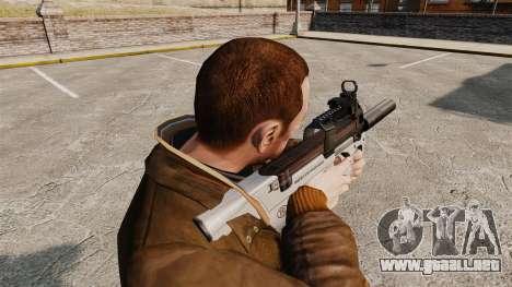 Belga FN P90 subfusil ametrallador v3 para GTA 4 segundos de pantalla
