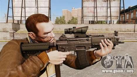 El fusil de asalto SIG 552 para GTA 4