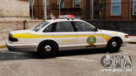 Policía Quebec para GTA 4 left