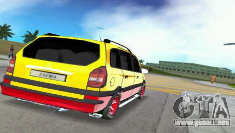 Opel Zafira para GTA Vice City vista lateral izquierdo