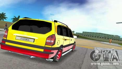 Opel Zafira para GTA Vice City vista lateral izquierdo