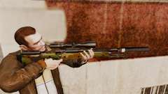 AW L115A1 rifle de francotirador con un v8 de silenciador para GTA 4