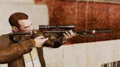 AW L115A1 rifle de francotirador con un v10 de silenciador para GTA 4