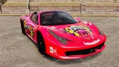 Ferrari 458 Spider Pink Pistol 027 Gumball 3000 para GTA 4