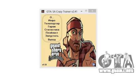 Crazy Trainer 350 v2.41 SA:MP para GTA San Andreas