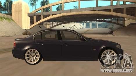 BMW 330 e90 para GTA San Andreas vista posterior izquierda