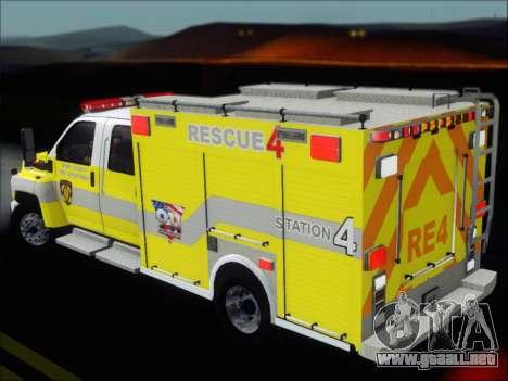 GMC C4500 Topkick BCFD Rescue 4 para el motor de GTA San Andreas