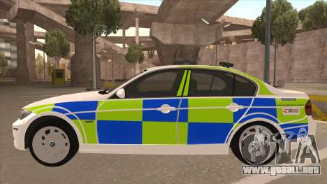 European Emergency BMW 330 para GTA San Andreas vista posterior izquierda
