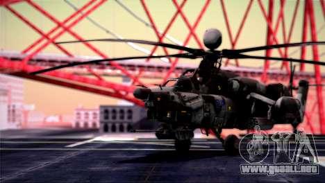 Mi-28N Havoc para GTA San Andreas vista posterior izquierda
