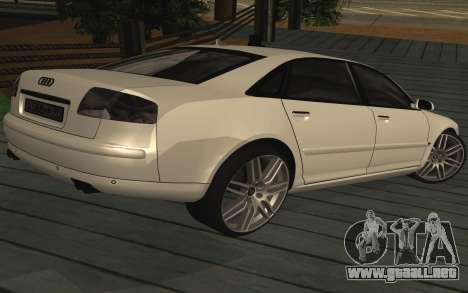 Audi A8L D3 para GTA San Andreas left