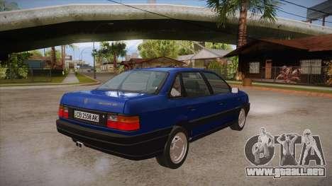 Volkswagen Passat B3 IVLM para la visión correcta GTA San Andreas