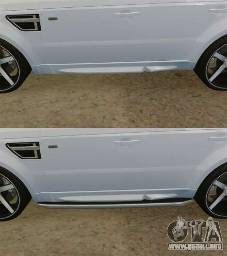 Range Rover Sport Autobiography 2013 Vossen para GTA 4 vista desde abajo