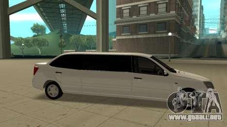 Lada Granta Limousine para GTA San Andreas left