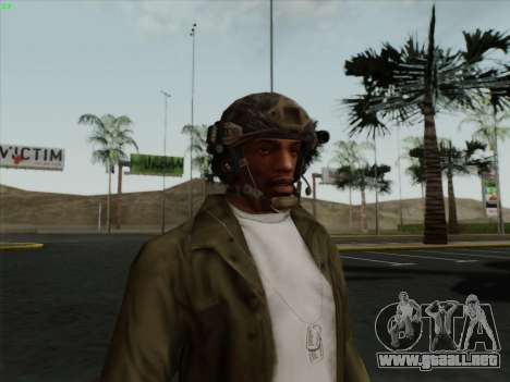 Casco de Call of Duty MW3 para GTA San Andreas segunda pantalla