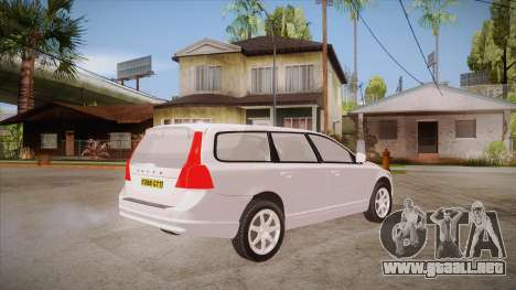 Volvo V70 Unmarked Police para la visión correcta GTA San Andreas