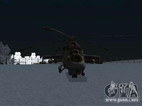 El MI-24p para la visión correcta GTA San Andreas