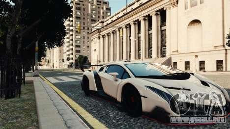 Lamborghini Veneno para GTA 4 Vista posterior izquierda