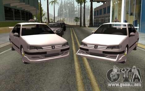 Peugeot 406 Taxi v2 para GTA San Andreas left