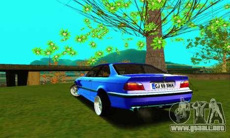 BMW E36 Low and Slow para GTA San Andreas vista posterior izquierda