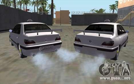 Peugeot 406 Taxi v2 para GTA San Andreas vista posterior izquierda