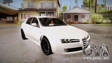 Alfa Romeo 159 para GTA San Andreas vista hacia atrás