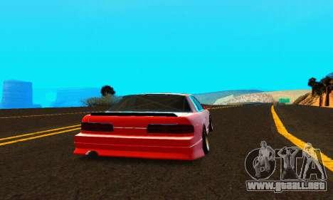 Nissan Silvia S13 HellaDrift para la visión correcta GTA San Andreas
