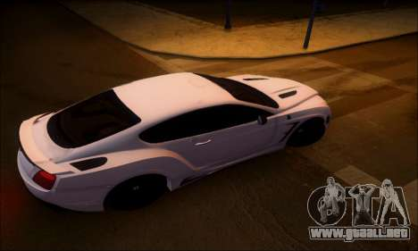 Bentley Continental GT para GTA San Andreas vista posterior izquierda